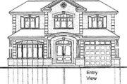 Mediterranean Style House Plan - 4 Beds 2.5 Baths 2119 Sq/Ft Plan #23-280 Exterior - Rear Elevation