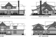 Craftsman Style House Plan - 4 Beds 3.5 Baths 3090 Sq/Ft Plan #47-390 Exterior - Rear Elevation