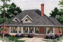 Home Plan - Traditional Exterior - Rear Elevation Plan #406-295