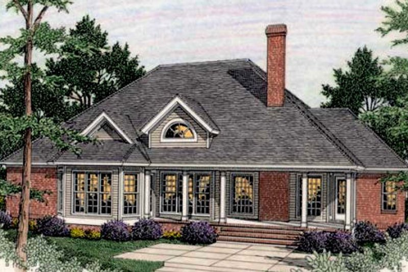 Traditional Exterior - Rear Elevation Plan #406-295 - Houseplans.com