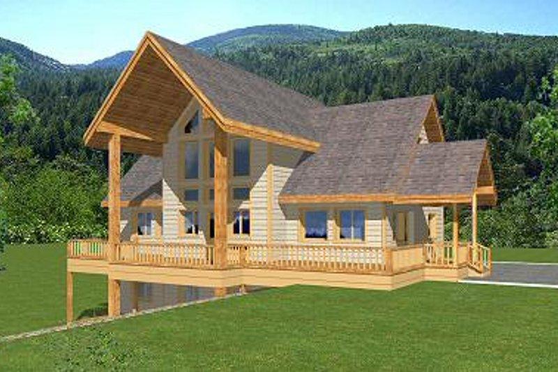 Bungalow Exterior - Front Elevation Plan #117-525 - Houseplans.com