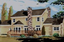 Home Plan - Southern Exterior - Rear Elevation Plan #3-209