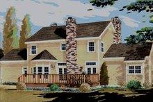 House Plan Design - Southern Exterior - Rear Elevation Plan #3-209