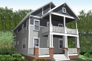 Craftsman Style House Plan - 4 Beds 3 Baths 2288 Sq/Ft Plan #461-34 Exterior - Other Elevation