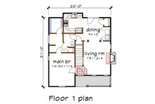 Cottage Floor Plan - Main Floor Plan Plan #79-155