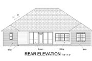 Traditional Style House Plan - 4 Beds 3 Baths 2062 Sq/Ft Plan #513-2068 Exterior - Rear Elevation