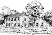 Colonial Style House Plan - 4 Beds 2.5 Baths 2371 Sq/Ft Plan #312-109 Exterior - Front Elevation