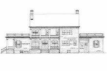 Colonial Exterior - Rear Elevation Plan #72-380