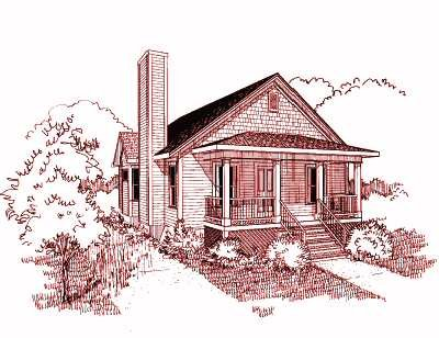 Bungalow Style House Plan - 2 Beds 2 Baths 1268 Sq/Ft Plan #79-174 Exterior - Front Elevation