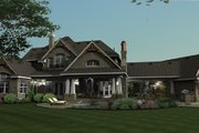 Craftsman Style House Plan - 4 Beds 4 Baths 3349 Sq/Ft Plan #120-173 Exterior - Rear Elevation