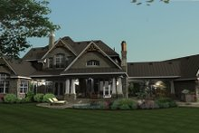 Craftsman Exterior - Rear Elevation Plan #120-173