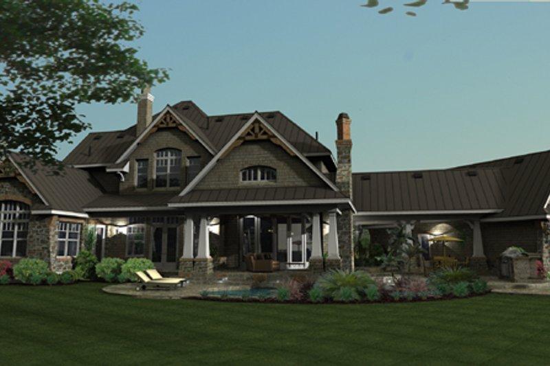Craftsman Exterior - Rear Elevation Plan #120-173 - Houseplans.com