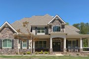 Traditional Style House Plan - 4 Beds 3.5 Baths 3187 Sq/Ft Plan #437-56 Exterior - Other Elevation