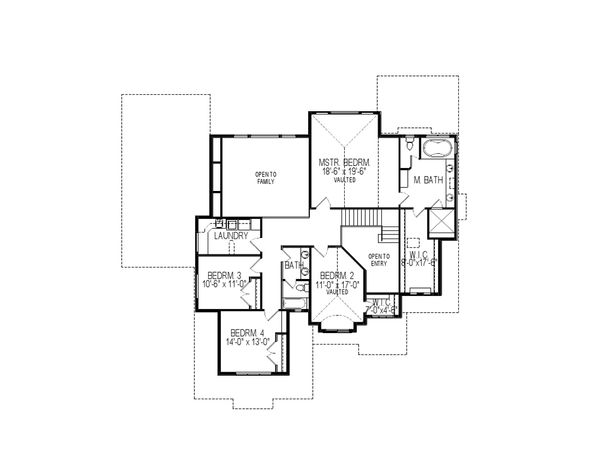 Contemporary Floor Plan - Upper Floor Plan Plan #920-46