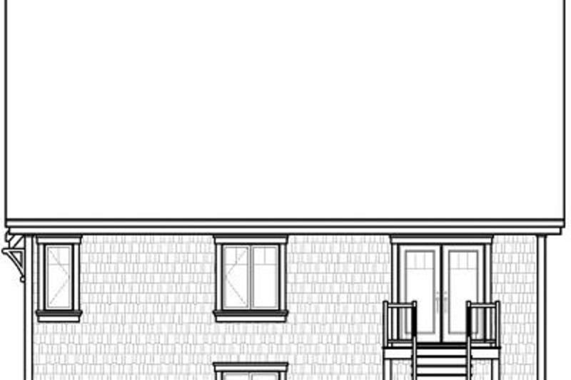 Traditional Exterior - Rear Elevation Plan #23-786 - Houseplans.com