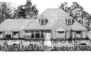 Traditional Style House Plan - 3 Beds 2.5 Baths 2215 Sq/Ft Plan #62-109 Exterior - Front Elevation