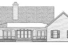 House Blueprint - Country Exterior - Rear Elevation Plan #72-135