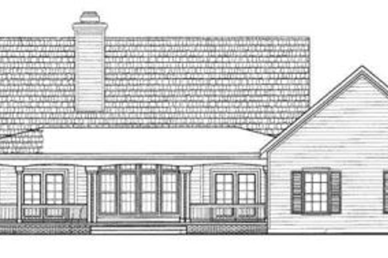 Country Exterior - Rear Elevation Plan #72-135 - Houseplans.com