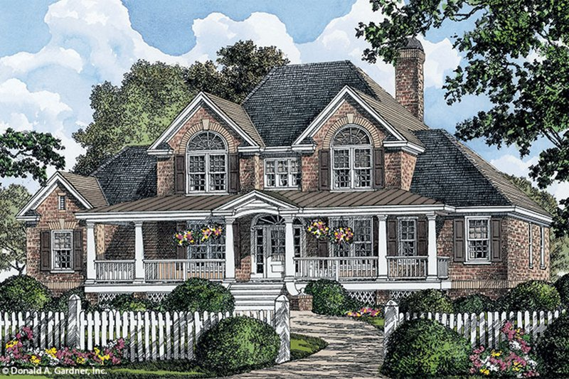 House Plan Design - Country Exterior - Front Elevation Plan #929-36