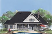 Country Style House Plan - 3 Beds 2.5 Baths 2304 Sq/Ft Plan #929-756 Exterior - Rear Elevation