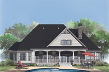 Country Exterior - Rear Elevation Plan #929-756