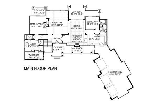 Home Plan - Floor Plan - Main Floor Plan #920-16