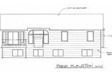 House Plan Design - Ranch Exterior - Rear Elevation Plan #58-159
