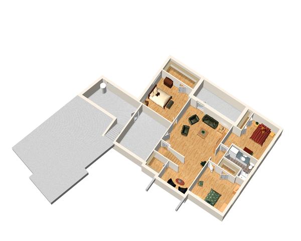 Traditional Floor Plan - Lower Floor Plan Plan #25-4472