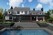 Farmhouse Style House Plan - 4 Beds 3.5 Baths 3052 Sq/Ft Plan #51-1145 Exterior - Rear Elevation