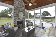 Craftsman Style House Plan - 4 Beds 3 Baths 2239 Sq/Ft Plan #929-1025 Exterior - Outdoor Living