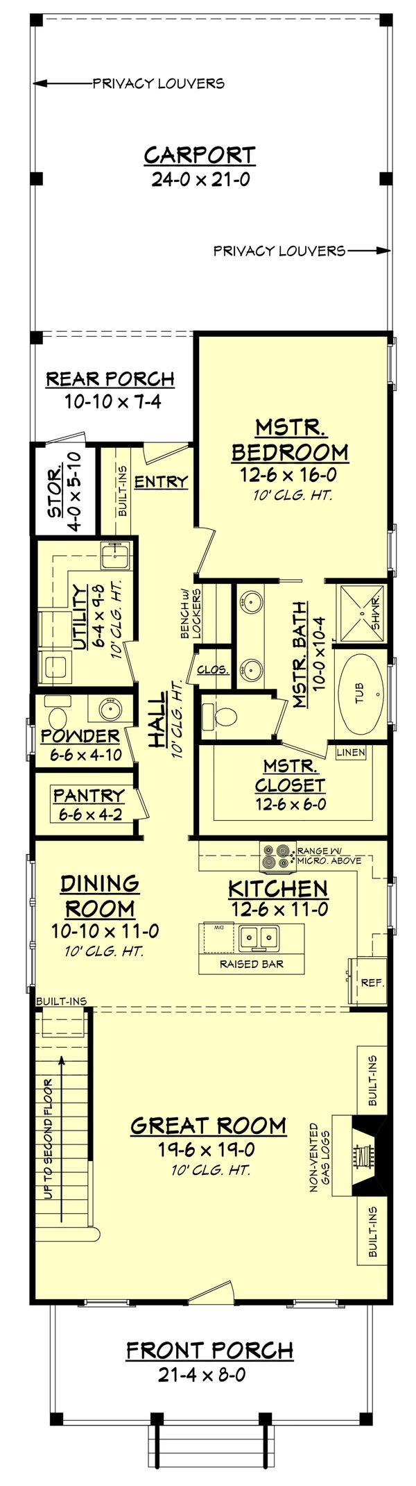 Cottage Floor Plan - Main Floor Plan Plan #430-117