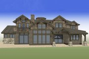 Craftsman Style House Plan - 5 Beds 5.5 Baths 4964 Sq/Ft Plan #892-27 Exterior - Rear Elevation