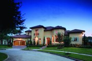 Mediterranean Style House Plan - 5 Beds 6 Baths 6834 Sq/Ft Plan #20-2166 Exterior - Front Elevation