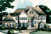European Style House Plan - 4 Beds 3.5 Baths 4271 Sq/Ft Plan #429-10 Exterior - Other Elevation