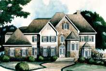 Architectural House Design - European Exterior - Other Elevation Plan #429-10