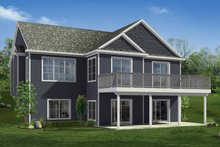 House Plan Design - Craftsman Exterior - Rear Elevation Plan #1057-21