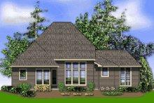 Dream House Plan - Craftsman Exterior - Rear Elevation Plan #48-373