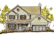 Farmhouse Style House Plan - 4 Beds 2.5 Baths 2324 Sq/Ft Plan #20-241 Exterior - Front Elevation