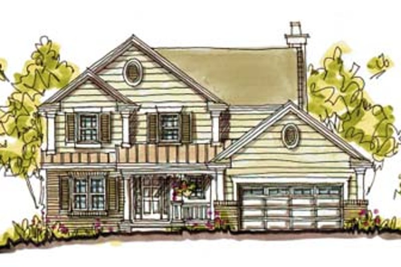 Architectural House Design - Farmhouse Exterior - Front Elevation Plan #20-241