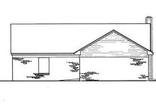 Cottage Exterior - Rear Elevation Plan #45-244