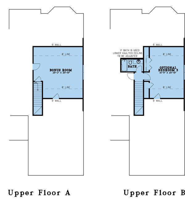 Dream House Plan - Farmhouse Floor Plan - Upper Floor Plan #923-190