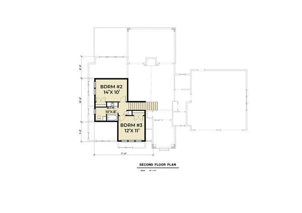 Craftsman Floor Plan - Upper Floor Plan Plan #1070-67
