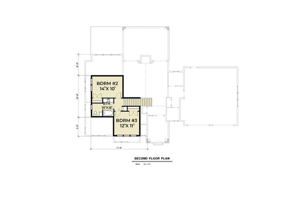 House Plan Design - Craftsman Floor Plan - Upper Floor Plan #1070-67