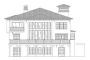 European Style House Plan - 4 Beds 4 Baths 3073 Sq/Ft Plan #119-341 Exterior - Rear Elevation