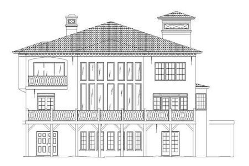 European Exterior - Rear Elevation Plan #119-341 - Houseplans.com