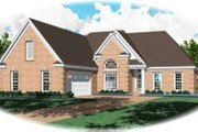 European Style House Plan - 3 Beds 2.5 Baths 2040 Sq/Ft Plan #81-1465 Exterior - Front Elevation