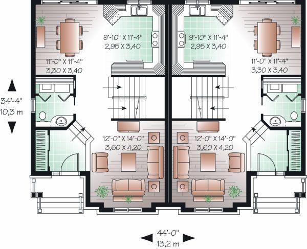 Traditional Floor Plan - Main Floor Plan Plan #23-776