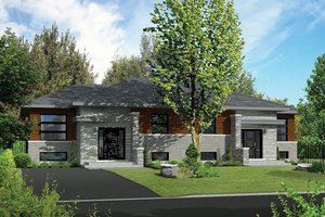 Contemporary Exterior - Front Elevation Plan #25-4398
