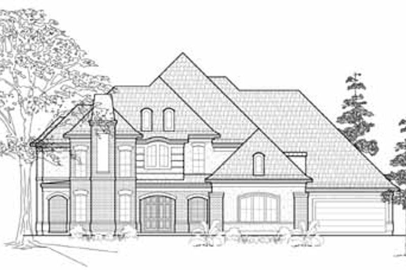 European Exterior - Front Elevation Plan #61-165 - Houseplans.com
