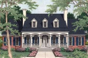 European Exterior - Front Elevation Plan #406-155
